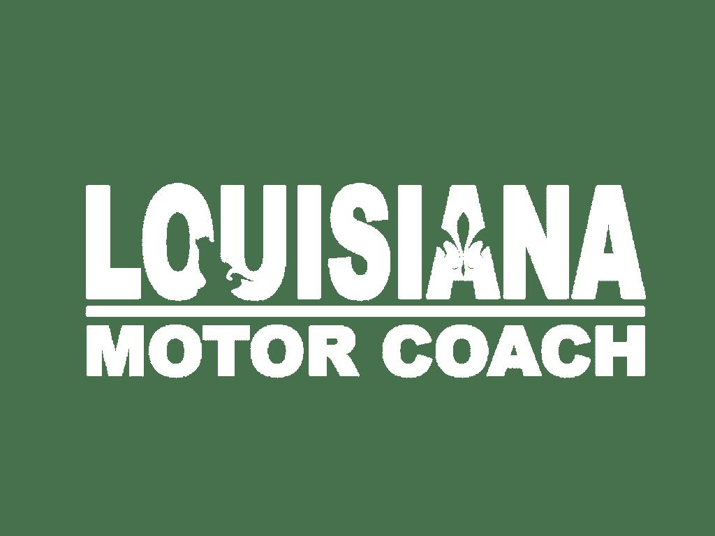 louisiana motorcoach logo white